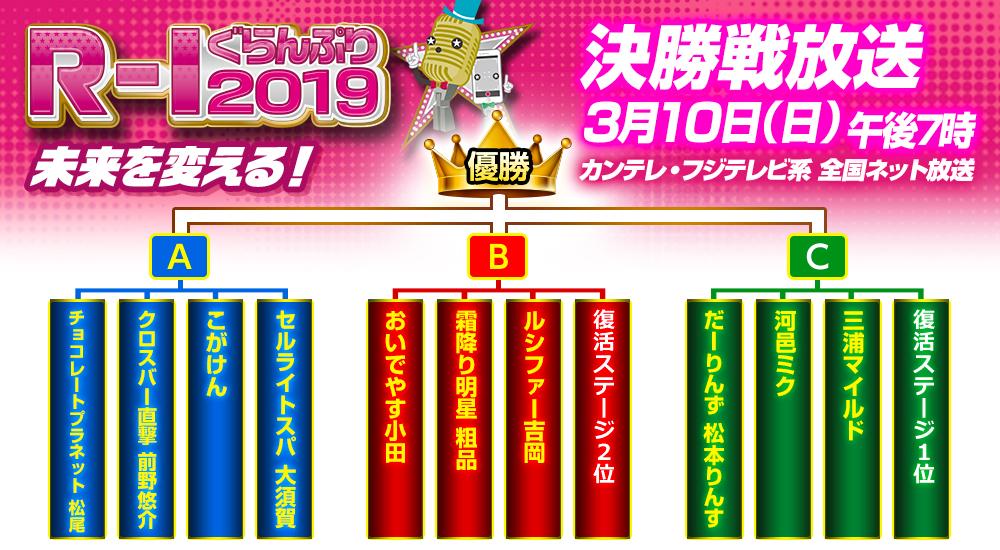 R-1グランプリ2019】優勝大予想!!復活ステージの注目芸人は ...
